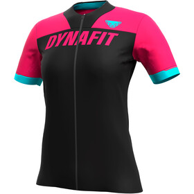Dynafit Ride Full-Zip Kurzarmshirt Damen schwarz/pink